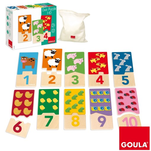 Goula Wooden Puzzle Duo 1-10 sold by Gifts for little hands