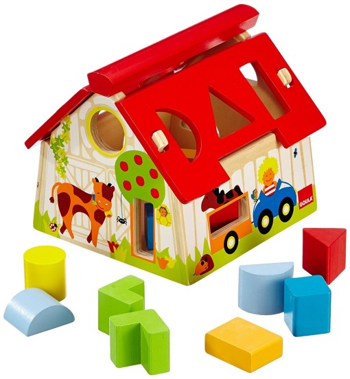 Goula Wooden Farmhouse Shape Sorter sold by Gifts for little hands