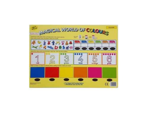 Interactive-Double-sided-reusable-Mats-–-Colours sold by Gifts for little hands