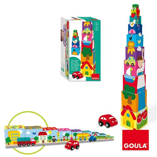 Goula Pile-up Cubes Car Puzzle - 3
