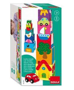 Goula Pile-up Cubes Car Puzzle - 2