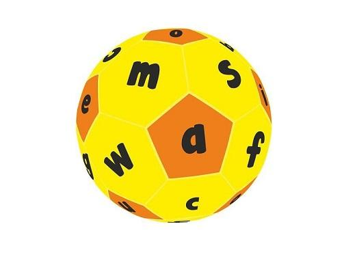 Hands On Play and Learn Lowercase abc Fabric Ball sold by gifts for little hands