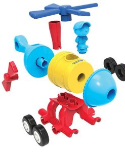 1-2-3 Build It!™ Rocket-Train-Helicopter -1