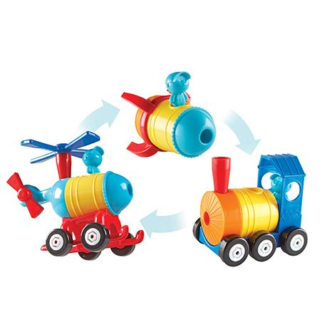 1-2-3 Build It!™ Rocket-Train-Helicopter - 2