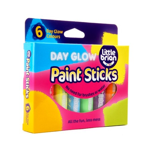 Paint Sticks Day Glow Colours - 6 assorted sold by Gifts for Little Hands