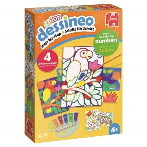 Dessineo Jungle Color Paint by Numbers sold by Gifts for Little Hands