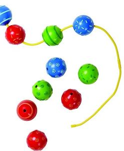 Baby Ball Threading Beads sold by Gifts for Little Hands
