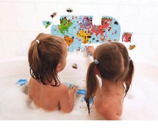 Janod Bath Explorers Map Puzzle