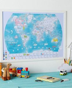 The World Children's Doodle Map sold by Gifts for Little Hands