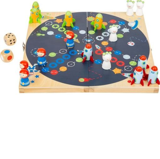 Wooden Ludo Space Game
