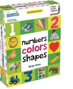 First 100 Number Colours Shapes Bingo Game