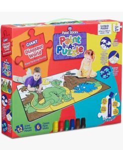 Little Brian Paint-A-Puzzle Dinosaur World Floor Puzzle