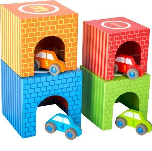 Legler Stacking Cubes Vehicles