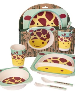 Giraffe Bamboo Dinner Set