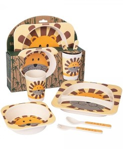 Lion Bamboo Dinner Set