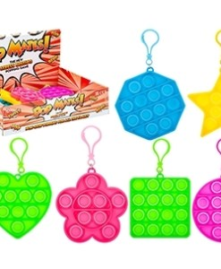 Pop Mates (Bubble) Clip On Fidget Toy - Shapes