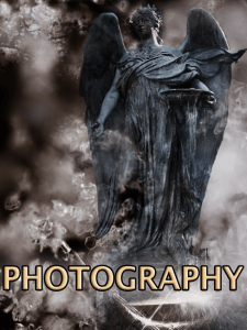 Photography of landscapes, angels, and studio art.