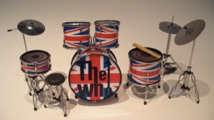 The Who Miniature Drum Kit