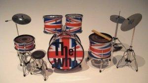 The Who Miniature Drum Kit