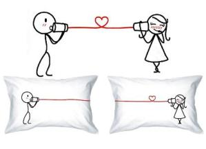 Love Whispers His & Hers Pillow Cases
