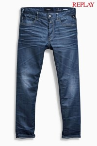 Replay Resin Coated 901 Taper Fit Jeans front