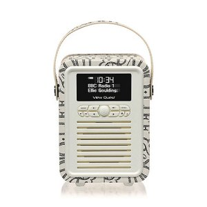 Viewquest View Quest 'Emma Bridgewater' black retro doc radio