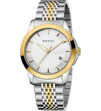 GUCCI - Timeless Collection stainless steel and yellow-gold PVD watch at Selfridges