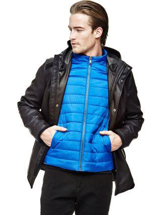 Mens Parka Jacket COATED-LOOK PARKA at GUESS