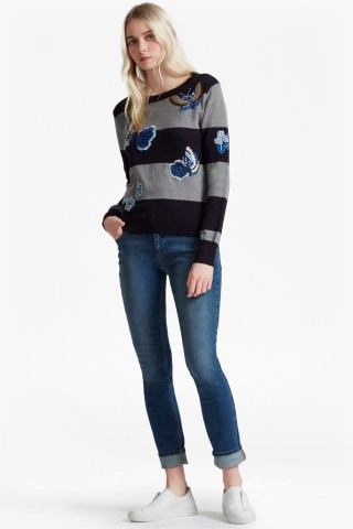 RSVP Argento Embroidered Patch Jumper at French Connection