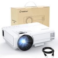 Crosstour HD Video Projector 1080P Supported for Home Theater Entertainment