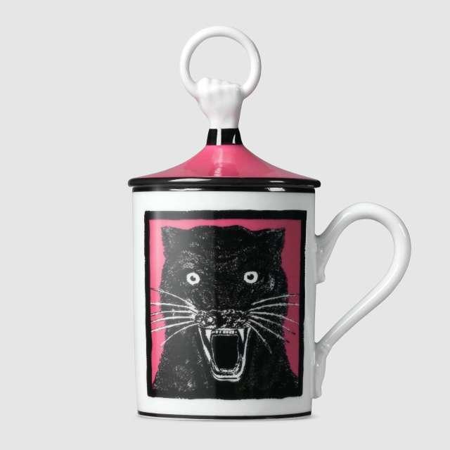 Gucci mug Light Panther hand and ring mug