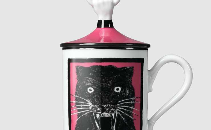 Gucci mug Light Panther hand and ring mug