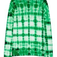 Proenza Schouler green tie dye top