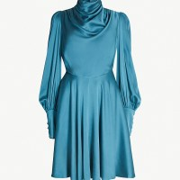 Zimmerman draped front stretch silk mini dress at Selfridges
