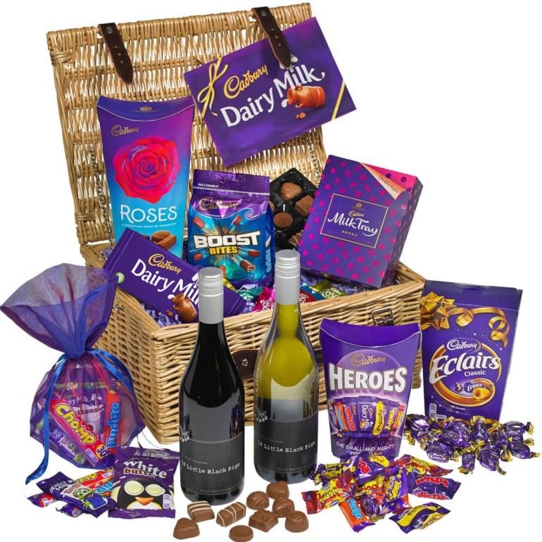 Cadbury gifts - Cadbury chocolate and wine