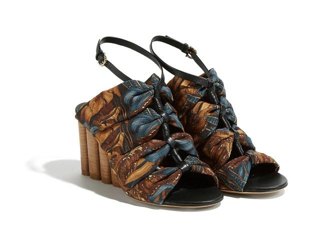 Flower Heel Sandals by Salvatore Ferragamo