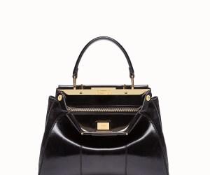 Fendi Peekaboo Iconic Medium black leather bag