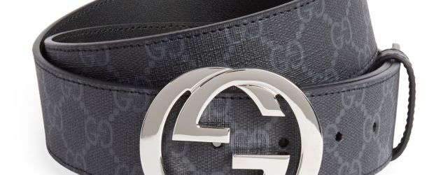 Gucci supreme belt at Harrods