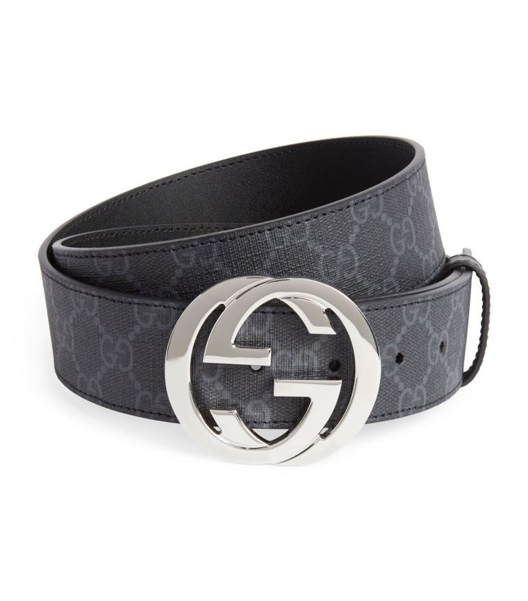 Gucci supreme belt at Harrods