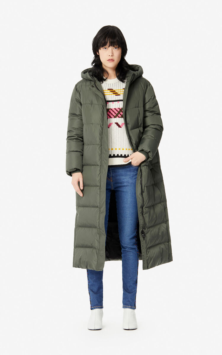 Kenzo Long Quilted Capsule Expedition puffer jacket