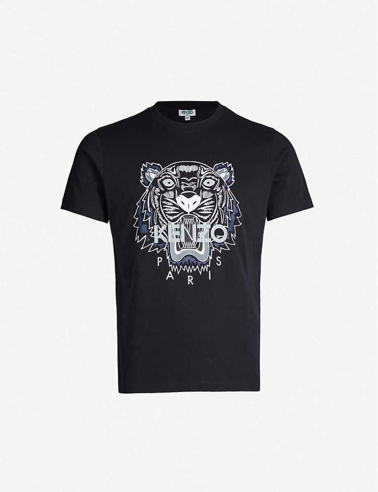 Men's Designer Tops & T-shirts at Selfridges Kenzo Tiger print T-shirt
