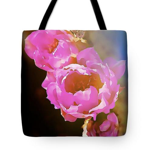 Pink Desert Flower- tote bag art print