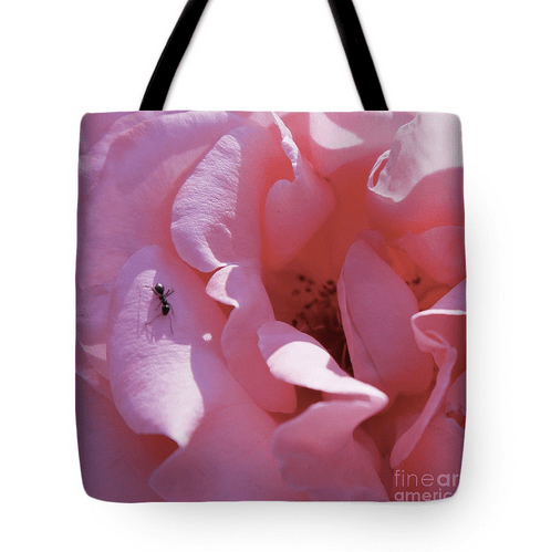 Pink rose art print Tote Bag by Tatiana Travelways