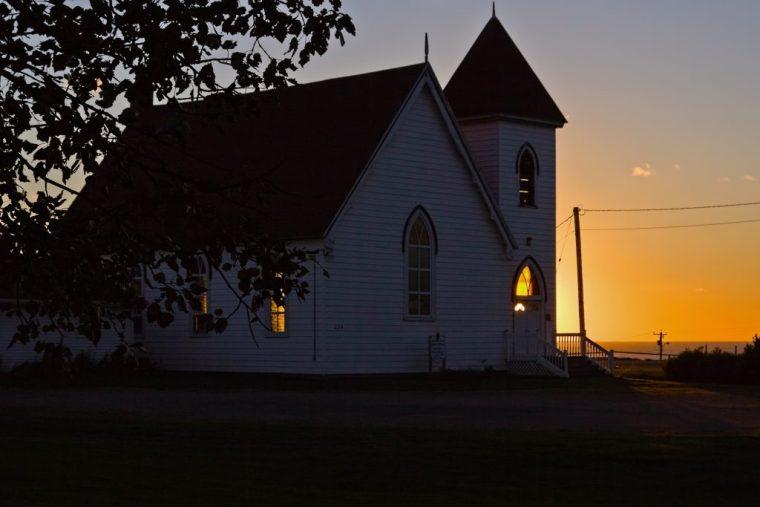Mystical light at the church - Mabou, Cape breton, Nova Scotia