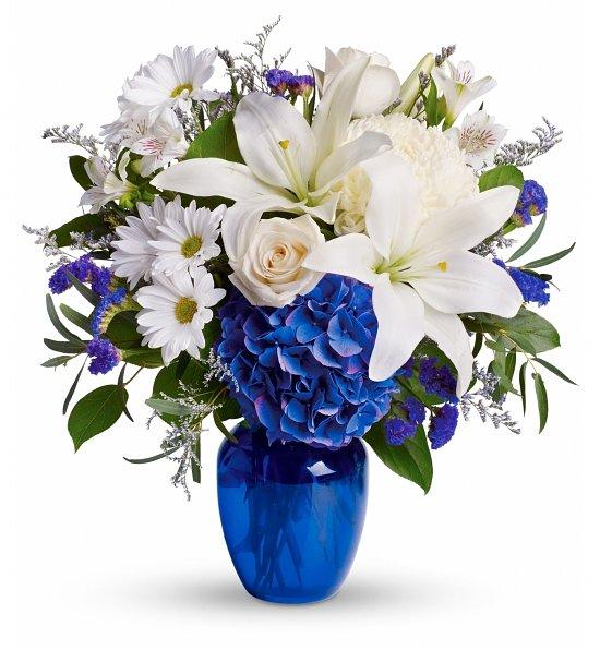Funeral Flowers Blue Bouquet