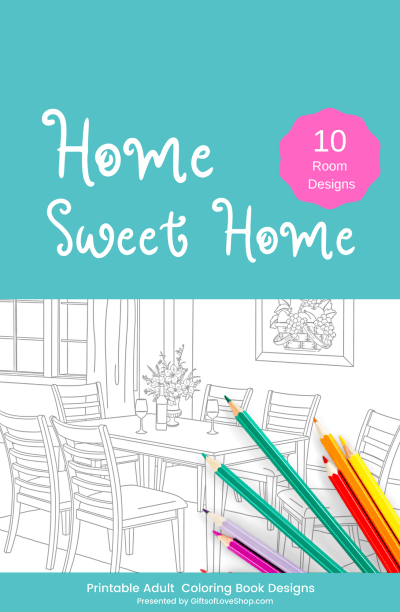 Home Sweet Home Adult Coloring Pages