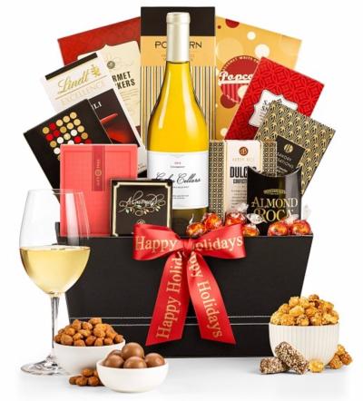 Christmas Wishes Wine Gift Basket