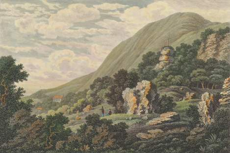 19th Century image of The Landslip