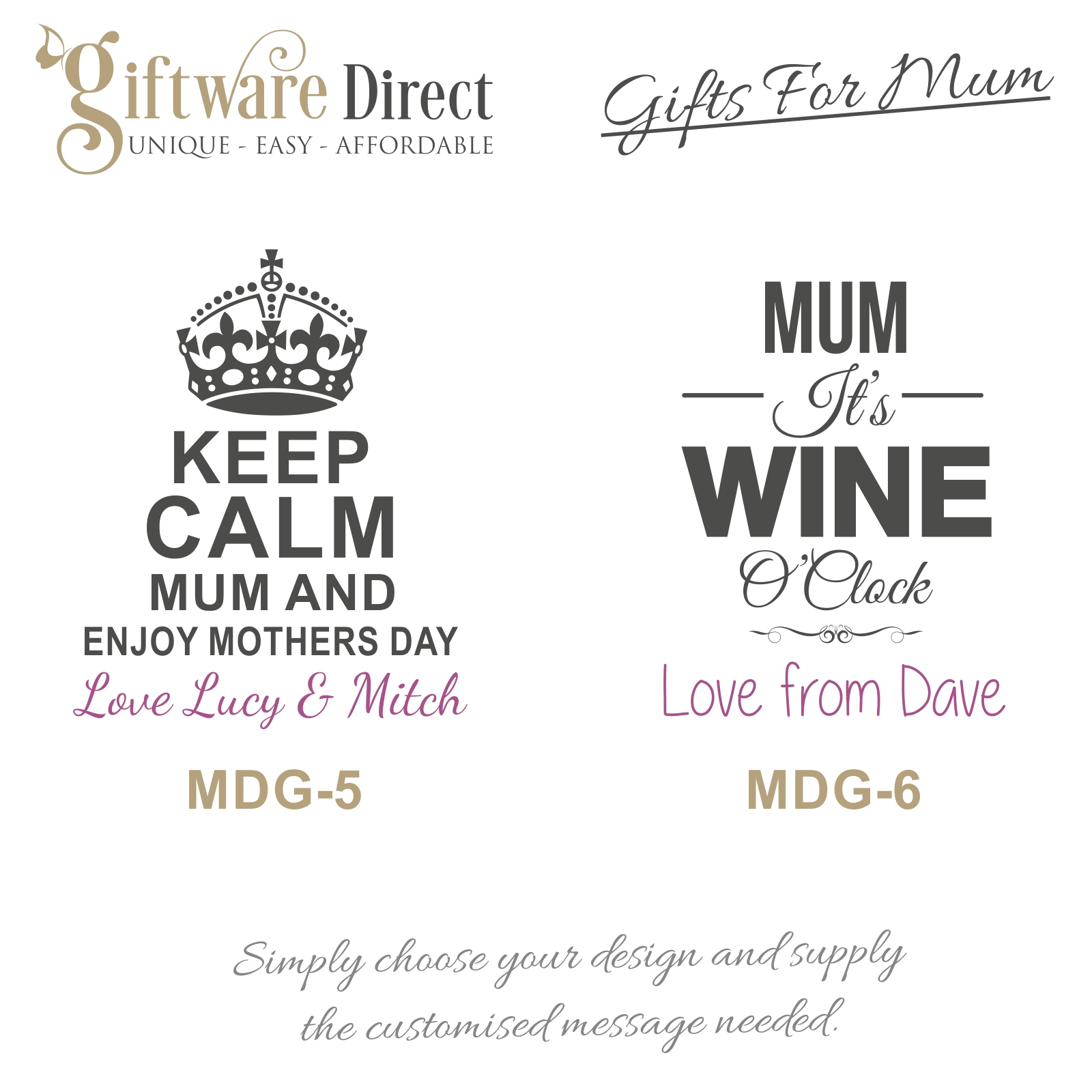 Personalised mothers day gift Engraved 215ml champagne