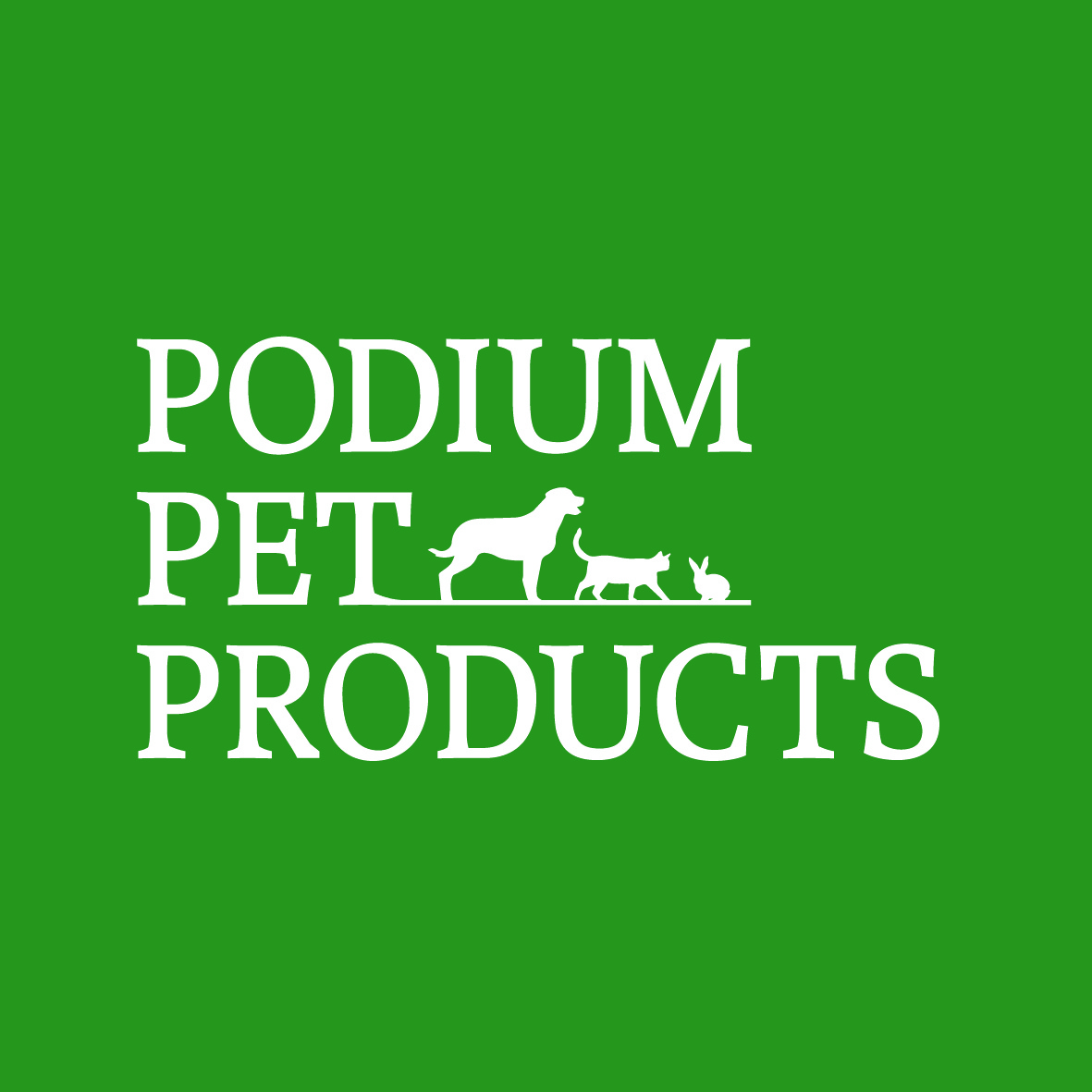 Podium Pet Products Inverted Stacked Logo CMYK
